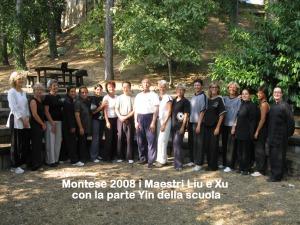 Montese 2008 i Maestri Liu e Xu con la parte Yin della scuola