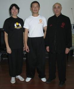 Il M° Wu Ji con il M° Daniele e la M° Romanisio