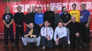 Il M° Wu con il gruppo Xin Yi Quan